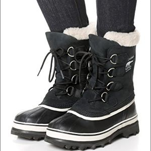 Sorel 7 Caribiu Boots Black Leather & Rubber